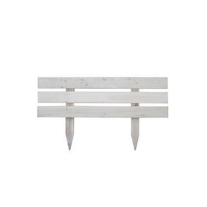 住まいスタイル 天然木製スティックフェンス「ボーダー」 ホワイト JSBF-8045WHT 3個 3セット