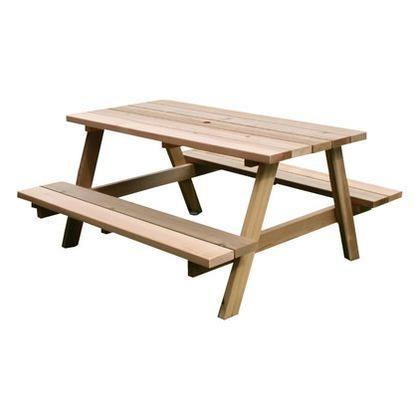 レッドシダーピクニックテーブル ナチュラル  OHPM-105