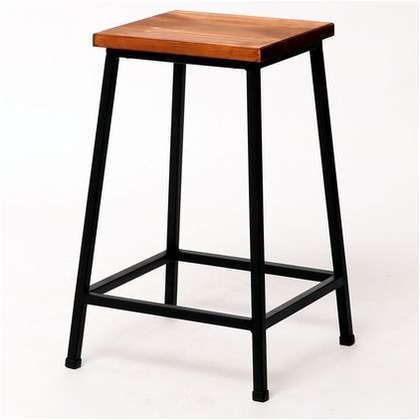 住まいスタイル ブリック 天然木製スツール ロータイプ ブラウン PR-BS49LO
