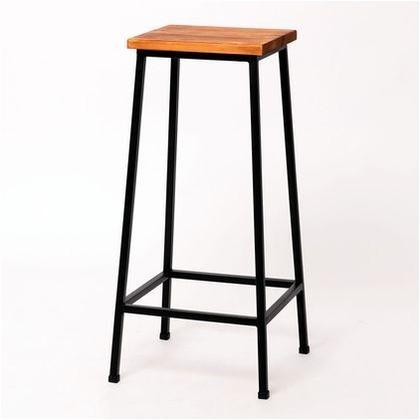 住まいスタイル ブリック 天然木製スツール ハイタイプ ブラウン PR-BS67HI