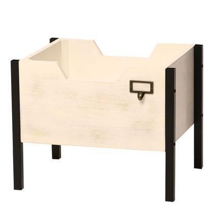 住まいスタイル 天然木製スタッキングボックス「Raku-en」延長セット ホワイト STB-4030E-WHT