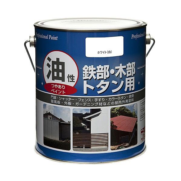 ニッペホーム 油性 鉄部・木部・トタン用 リーフグリーン 1.6L