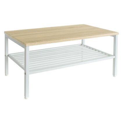 Lily リリー センターテーブル ナチュラル/ホワイト 幅900×奥行450×高さ400mm 43-111