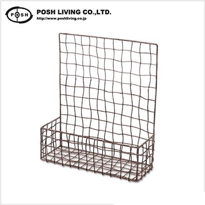ポッシュリビング ウォールシェルフ W30.5 D11 H35(取っ手含まず10.5) cm 63428