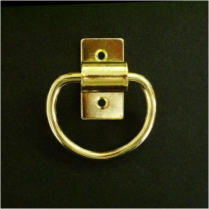 HANG H-450 ゴールド(真鍮めっき) A:35 B:30 C:25 D:20 E:24 F:45 太さ:4φ 穴径:4Φ(mm) MG-445