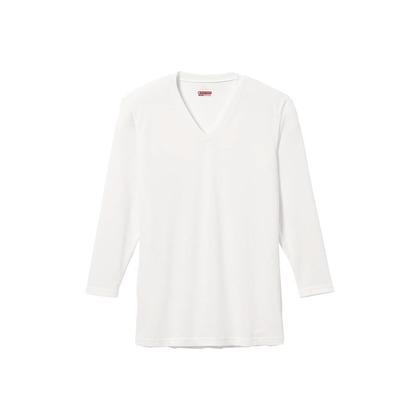 メンズ・ブレスサーモエブリ・Vネック長袖シャツ オフホワイト LL C2JA560102LL