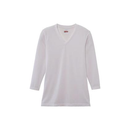 メンズ・ブレスサーモエブリプラス・Vネック長袖シャツ オフホワイト L C2JA664102L