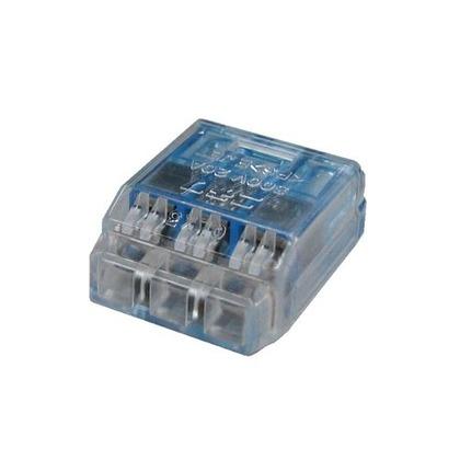 クイックロック 差込形電線コネクタ  幅70mm 高100mm 奥行10mm QLX3 5 個