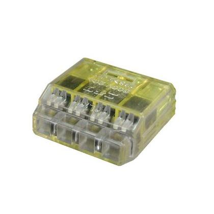 クイックロック 差込形電線コネクタ  幅70mm 高100mm 奥行10mm QLX4 5 個