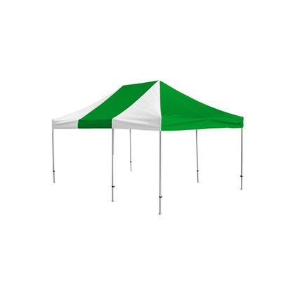 かんたんてんと3(スチール&アルミ複合フレーム) 緑/白 3.6m×5.4m KA/10W