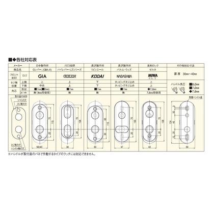 各社対応レバーハンドル ブロンズ  NP-38D1-ML-B