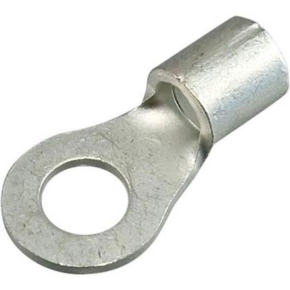 銅線用 裸圧着端子 R形 丸形  幅70mm 高100mm 奥行10mm R8-6 10 個