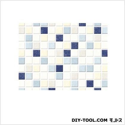 明和グラビア 貼ってはがせるテーブルデコレーション モザイクタイル BL ブルー 90cmX150cm BL