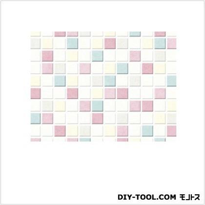 明和グラビア 貼ってはがせるテーブルデコレーション モザイクタイル P ピンク 90cmX150cm P