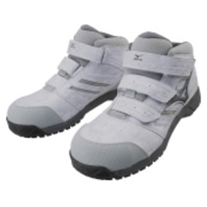 作業靴 オールマイティLSミッドカットタイプ ライトグレー×ダークグレー×グレー 22.5cm C1GA180205225