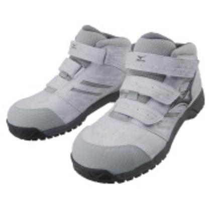 ミズノ 作業靴 オールマイティLSミッドカットタイプ ライトグレー×ダークグレー×グレー 26.5cm C1GA180205265