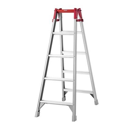 はしご兼用脚立RA シルバー H1400×W570×D940? RA-15