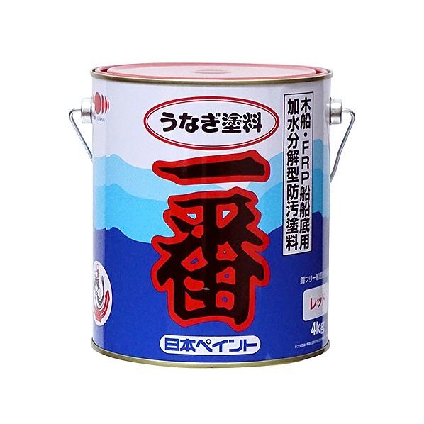 【送料無料】日本ペイントマリン うなぎ塗料一番 レッド 4kg 1缶