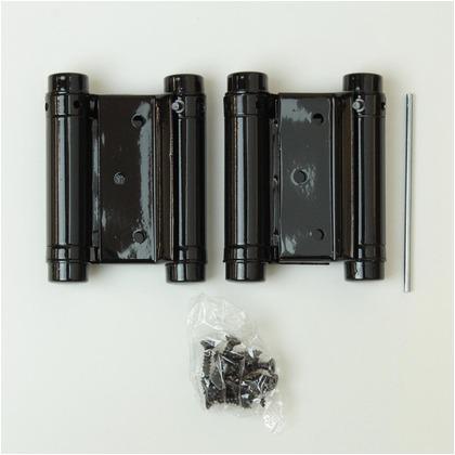 和気産業 自由丁番 両開 黒 規格:64mm BK-420