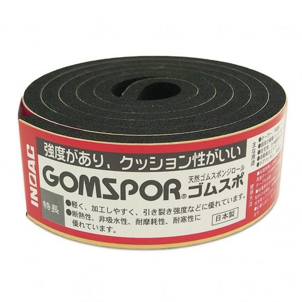 天然ゴムスポンジロール ゴムスポ  粘着 黒 幅30mmX厚み5mm N14-530MT