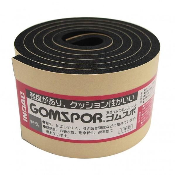 天然ゴムスポンジロール ゴムスポ  粘着 黒 幅50mmX厚み5mm N14-550MT