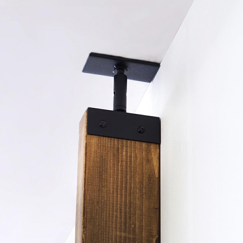 LABRICO(ラブリコ) 2×4材用アジャスター アイアン ブラック IXK-1