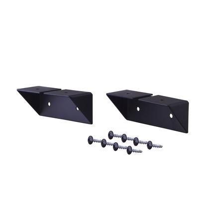 棚受 シェルフサポート アイアン ブラック 幅8.6×奥行3.6×高さ3.6cm IXK-2
