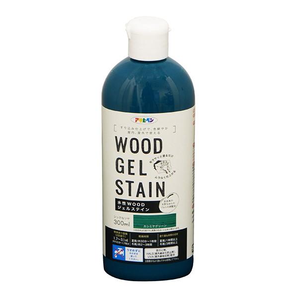 アサヒペン WOODジェルステイン 水性塗料 カシミヤグリーン 300ml
