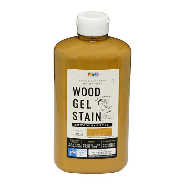 アサヒペン WOODジェルステイン 水性塗料 ライトオーク 700ml