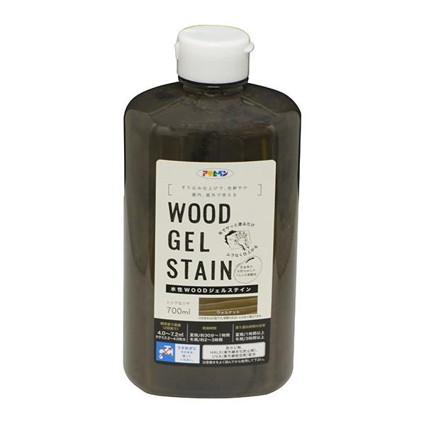 アサヒペン WOODジェルステイン 水性塗料 ウォルナット 700ml