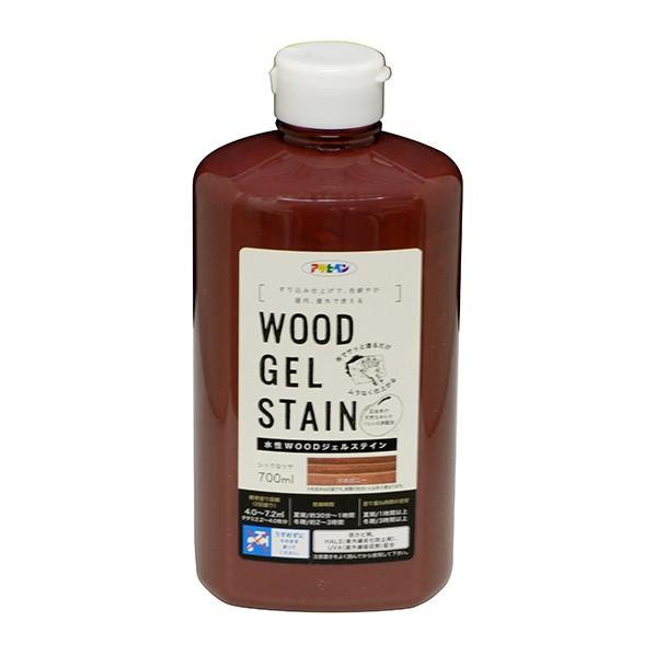 アサヒペン WOODジェルステイン 水性塗料 マホガニー 700ml