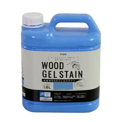 アサヒペン WOODジェルステイン 水性塗料 チョークブルー 1.6L