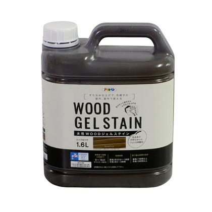 アサヒペン WOODジェルステイン 水性塗料 ウォルナット 1.6L