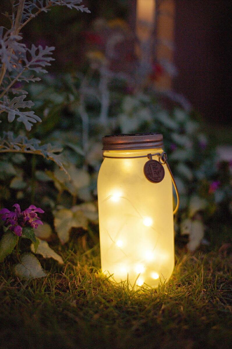 エトワル LED ガーデンライト ソーラー 防水 乳白 L