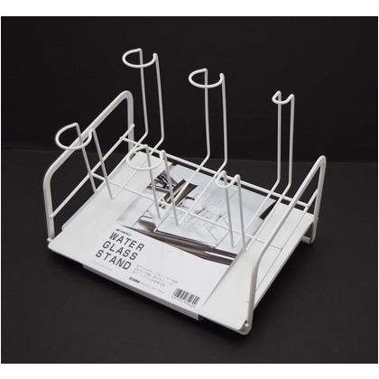 TAKAGI グラススタンドDX ホワイト (W)225×(H)180×(D)170mm