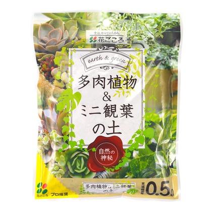 花ごころ 多肉植物・ミニ観葉の土 0.5L