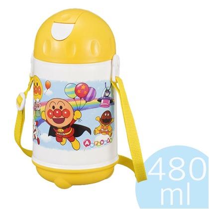 レック 子供用保冷水筒 ストロー付 アンパンマン  480ml K-930AL