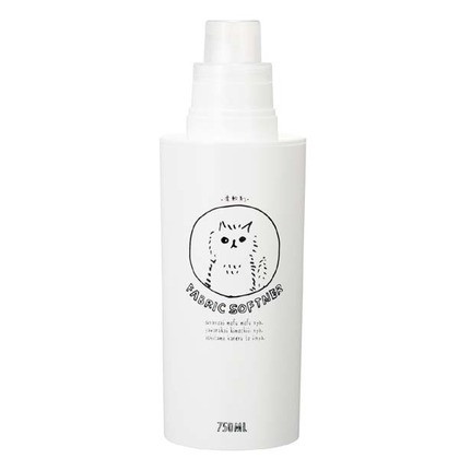 素地のナカジマ ネコランドリー 洗濯洗剤用詰替えボトル 柔軟剤 750ml