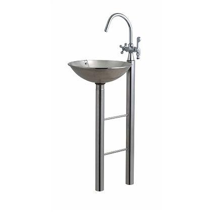 【送料無料】SENSUI(泉水) クラウン+2(水栓柱) 鏡面 外寸:W350×D480×H1280mmパン:φ350 深さ100mm 335G ガーデン水栓