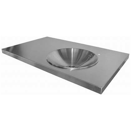 SENSUI(泉水) ガーデンキッチンパン トップ(大) ヘアライン 天板 W960×D600×H40mmパン φ350×深さ100mm 705N キッチン
