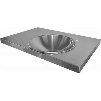 SENSUI(泉水) ガーデンキッチンパン トップ(小) ヘアライン 天板 W720×D480×H40mmパン φ350×深さ100mm 706N キッチン