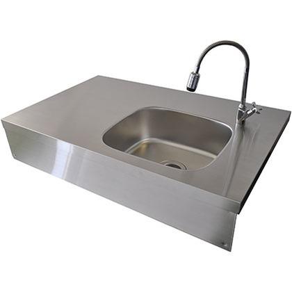 SENSUI(泉水) ガーデンシンク トップ ヘアライン 天板 W960×D600×H40mmシンク部 W405×D350×深さ170mm幕板 W950×H170mm 715 キッチン