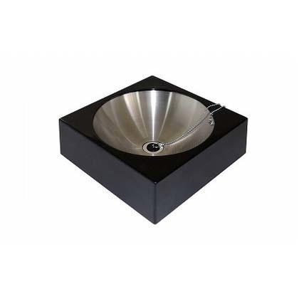 【送料無料】SENSUI(泉水) FRPアールパンスクエアー ブラック 本体 W400×D400×H125mmパン φ350×H200(深さ100)mm 416B