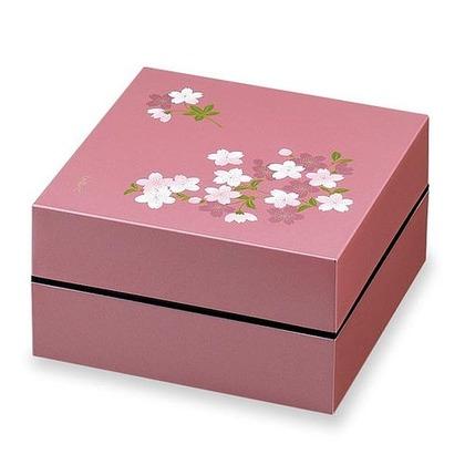 正和 お重・お弁当箱 ランチボックス 宇野千代 オードブル重 2段 あけぼの桜  ピンク