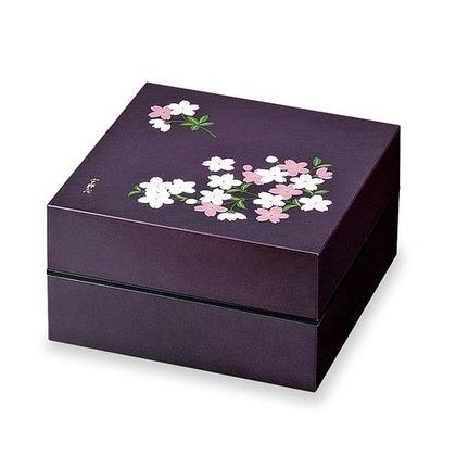 正和 お重・お弁当箱 ランチボックス 宇野千代 オードブル重 2段 あけぼの桜  紫