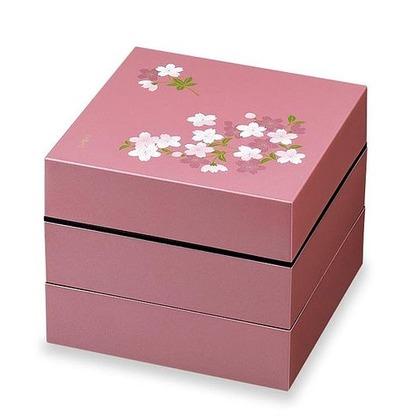 正和 お重・お弁当箱 ランチボックス 宇野千代 オードブル重 3段 あけぼの桜  ピンク