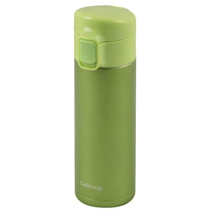パール金属 水筒 マグボトル カフェマグライト ワンタッチマグ パステルグリーン 350ml HB-1933