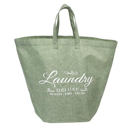 FRANY ランドリーバッグ 手提げ グリーン 約 幅55×奥行35×高さ43(cm)※持ち手含まず