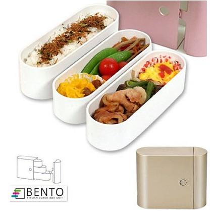 正和 お弁当箱 スリム 3段 BENTO 650ml ゴールド