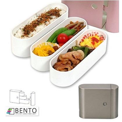 正和 お弁当箱 スリム 3段 BENTO 650ml シルバー